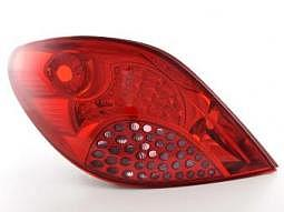 Rckleuchten Set LED Peugeot 207, rot