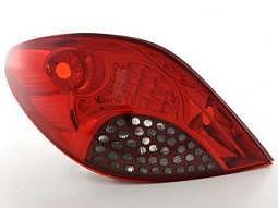 Rckleuchten Set LED Peugeot 207, rot/..