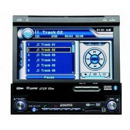 "1DIN Headunit mit 7"" TFT LCD, Bluetooth, Touch Screen Display und eingebautem DVD Player"