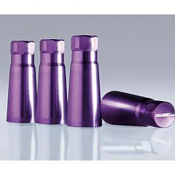FOLIATEC AIRCAPS Cover f??r Gummiventile - 38mm, violett, Alu eloxiert, 4 St?ck