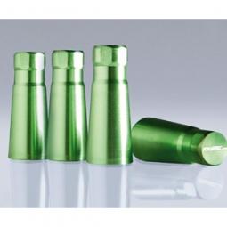 FOLIATEC AIRCAPS Cover f??r Gummiventile - 38mm, gr??n, Alu eloxiert, 4 St?ck