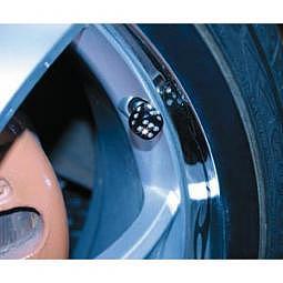 FOLIATEC AIRCAPS Ventilkappen Crystal Cube - 4 St?ck, schwarz