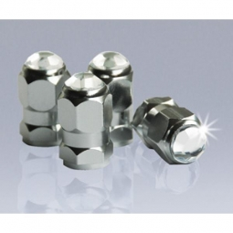 AIRCAPS Crystal Hexagon - Alu silber, 4 St?ck