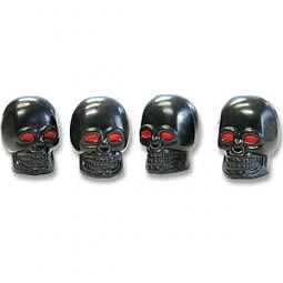AIRCAPS-Ventilkappen SKULL - schwarz mit roten Augen, 4 St?ck
