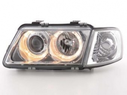 Scheinwerfer Angel Eyes Set fr Audi A3 Typ 8L Bj. 96-00 chrom