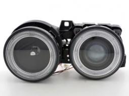 Scheinwerfer Angel Eyes Set BMW 3er E30, schwarz