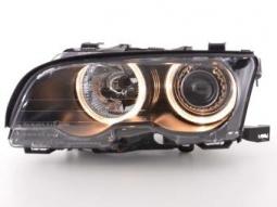 Scheinwerfer Angel Eyes Set BMW 3er Coupe Typ E46 Bj. 01-03 schwarz