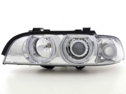 Scheinwerfer Angel Eyes Set BMW 5er E39, chrom