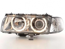 Scheinwerfer Angel Eyes Set BMW 7er Typ E38 Bj. 95-98 chrom