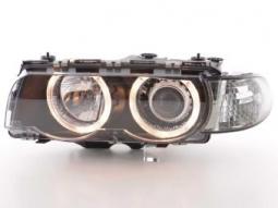 Scheinwerfer Angel Eyes Set BMW 7er Typ E38 Bj. 99-02 schwarz