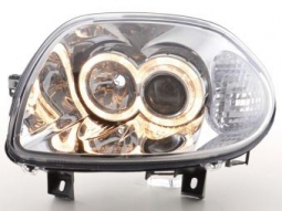 Scheinwerfer Angel Eyes Set Renault Clio Typ B Bj. 98-01 chrom