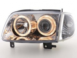 Scheinwerfer Angel Eyes Set VW Polo Typ 6N2 Bj. 99-01 chrom