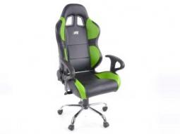 Bürostuhl Sportsitz Phoenix mit Armlehne, Kunstleder schwarz/grün