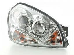 Scheinwerfer Daylight Set Hyundai Tucson JM Bj. 05-10 chrom