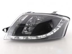 Scheinwerfer Daylight Set Tagfahrlicht Audi TT Typ 8N Bj. 98-06 schwarz
