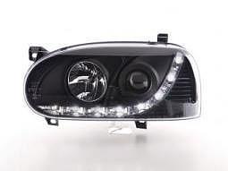 Scheinwerfer Daylight Set VW Golf 3 Typ 1HXO 1EXO Bj. 91-97 schwarz