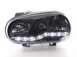 Scheinwerfer Daylight Set VW Golf 4 Typ 1J Bj. 98-03 schwarz