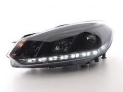 Scheinwerfer Daylight Set Tagfahrlicht VW Golf 6 Typ 1K Bj. 08- schwarz