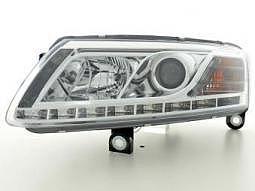 Scheinwerfer Daylight Set Audi A6 Typ 4F Bj. 04-08 chrom