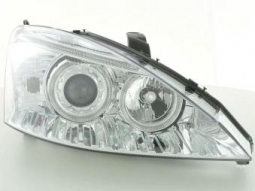 Scheinwerfer Angel Eyes Set Ford Focus 1 Bj. 01-02 chrom