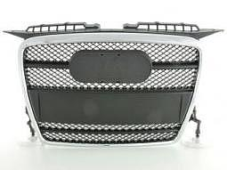 Sportgrill Frontgrill Grill Audi A3 Typ 8P Bj. 05-08 schwarz/chrom m. Logohalter