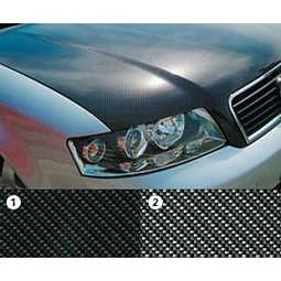 MotorhaubenFolie Carbon-Silber Variante 2