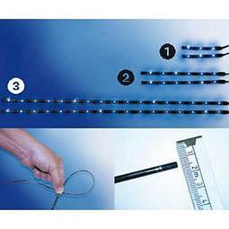FOLIA TEC SMD-LED FlexStripes XXS - 3 blaue SMD je St?ck, L = 6 cm, 2 St?ck
