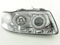 Scheinwerfer Angel Eyes Set fr Audi A3 Typ 8L Bj. 01-03 chrom